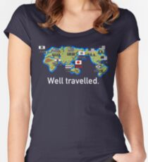Well Travelled Women's Fitted Scoop T-Shirt