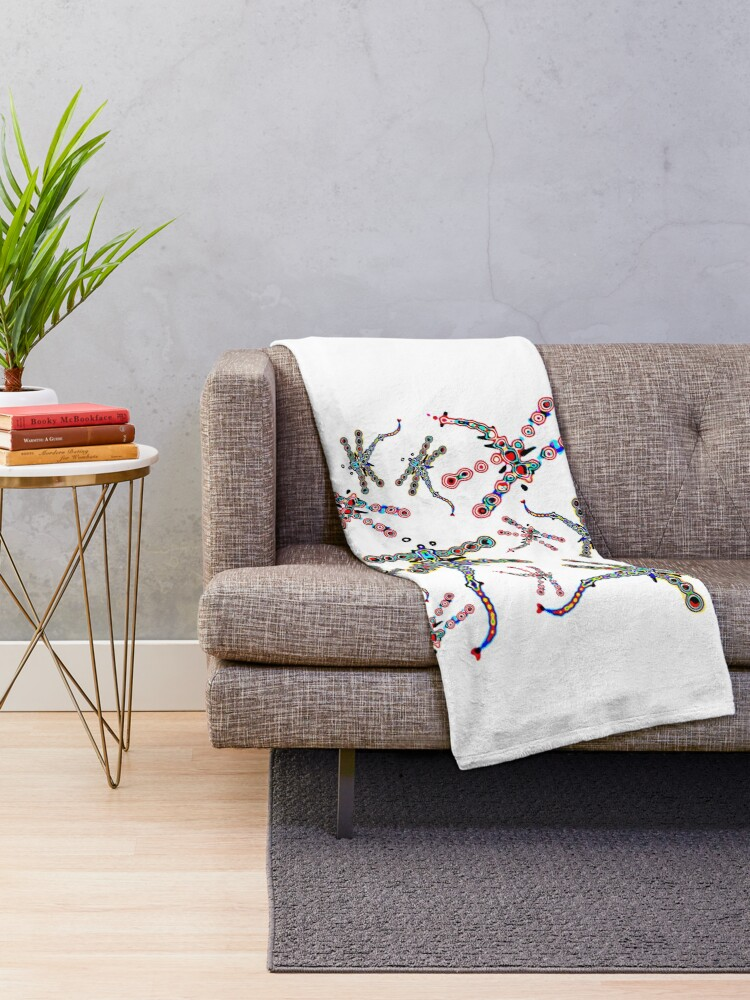 Alternate view of Electric Dragonfly Dreams Throw Blanket