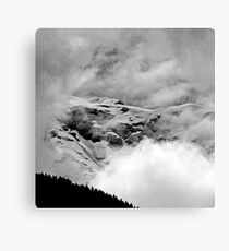 The Mont Blanc from Saint Gervais Canvas Print