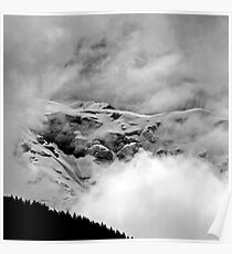 The Mont Blanc from Saint Gervais Poster