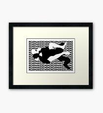 Jiu Jitsu MMA Rear Naked Choke Framed Print
