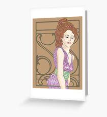 Golden Mucha Greeting Card