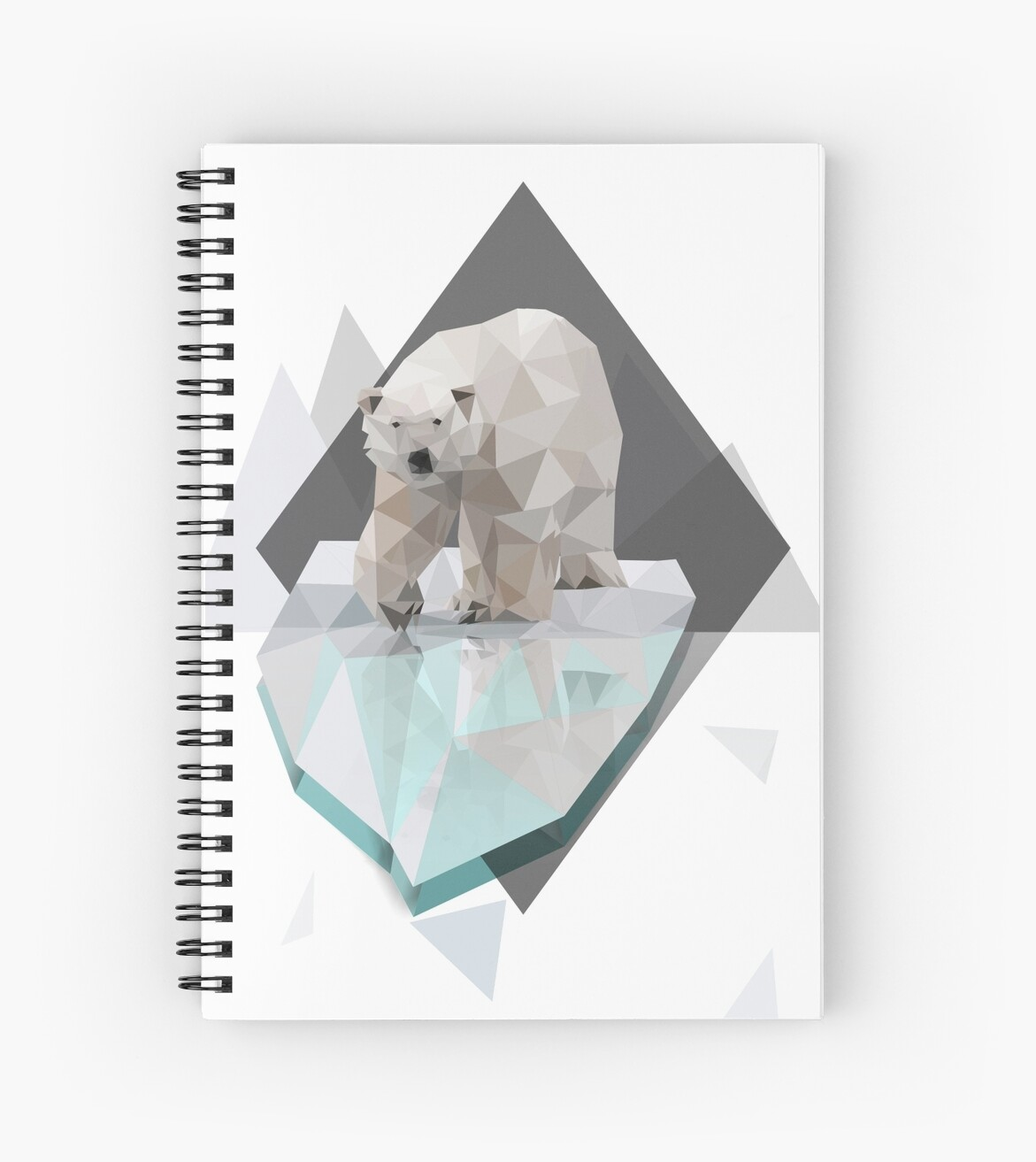 Low Poly Polar Bear on Iceberg Illustration by omniprints