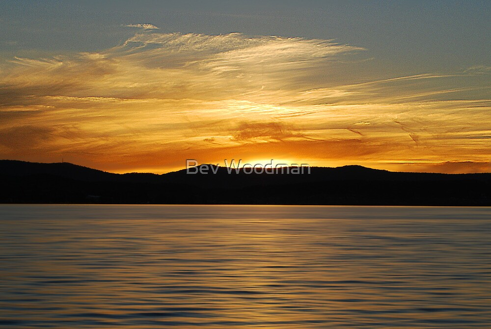 Warners Bay Sunset  by Bev Woodman