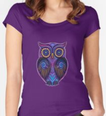 Ornate Owl 9 Women's Fitted Scoop T-Shirt