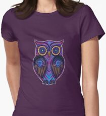 Ornate Owl 9 Women's Fitted T-Shirt