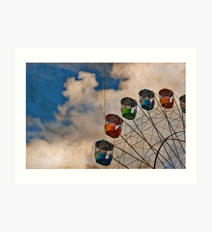 Postcard of Adelaide Ferris Wheel Art Print