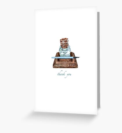 Antique Inkwell Thank You Greeting Card