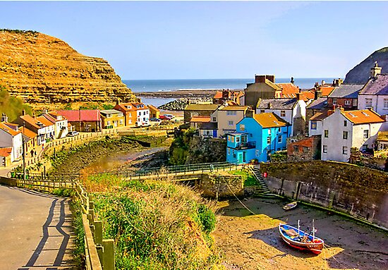 Staithes Harbour by Trevor Kersley