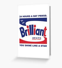 Brillo Brilliant (remembering Andy Warhol) Greeting Card