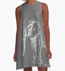 Tide Elephant | White & Grey Gameday Dress A-Line Dress