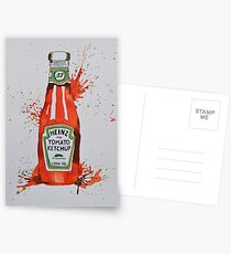 Heinz Tomato Ketchup Bottle Postcards