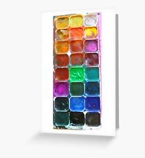 Water Colours Greeting Card