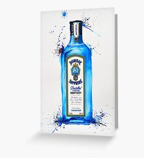 Bombay Sapphire Gin Bottle Greeting Card