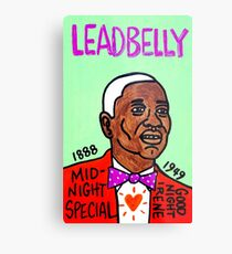 Leadbelly Blues Folk Art Metal Print