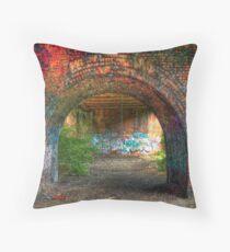 Urban decay-under the bridge Throw Pillow