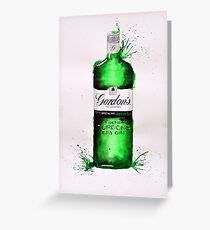 Gordons's Dry Gin Bottle Greeting Card