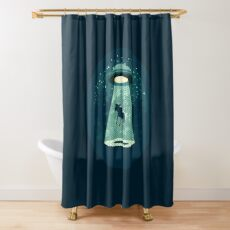Beware UFO Shower Curtain