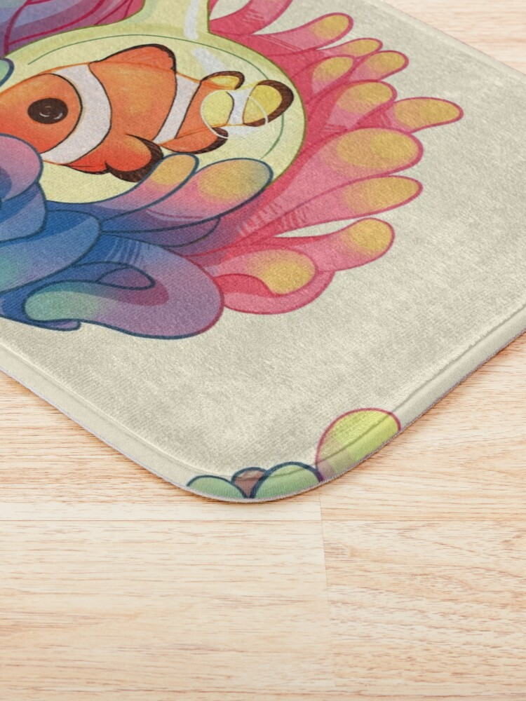 Alternate view of C is for Clownfish Bath Mat