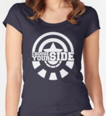 Civil War - Choose Your Side Women's Fitted Scoop T-Shirt