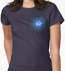 Real Peace Sign (Blue Light) Womens Fitted T-Shirt