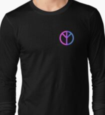 Real Peace Sign (Pink-Blue) Long Sleeve T-Shirt
