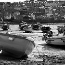 ST IVES AT LOW TIDE by Michael Carter