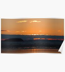 Steep Holme Sunset I Poster
