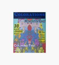 Colorations Magazine - Moment In Time Art Board Print