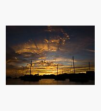 Sunset at Grenada Island | Colour Travel Photography Photographic Print