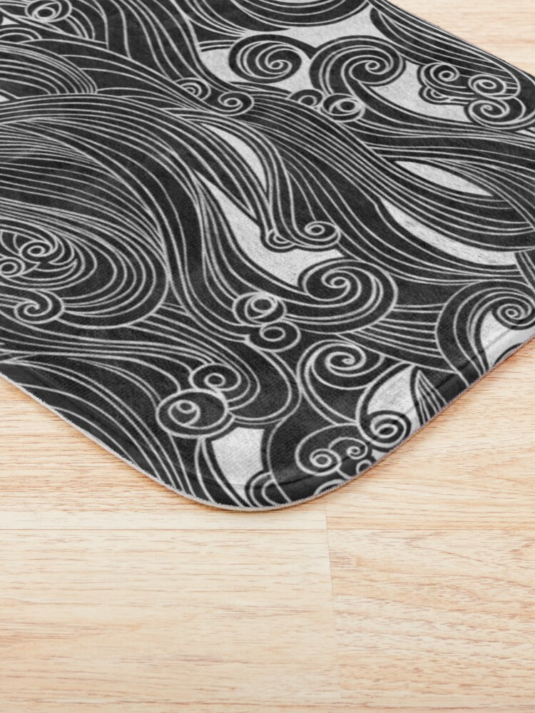 Alternate view of Black Wave Bath Mat