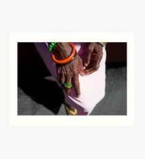 Wrinkled Hands | Colour Travel Photography Art Print