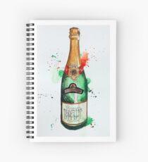 Vintage Bollinger Bottle Spiral Notebook