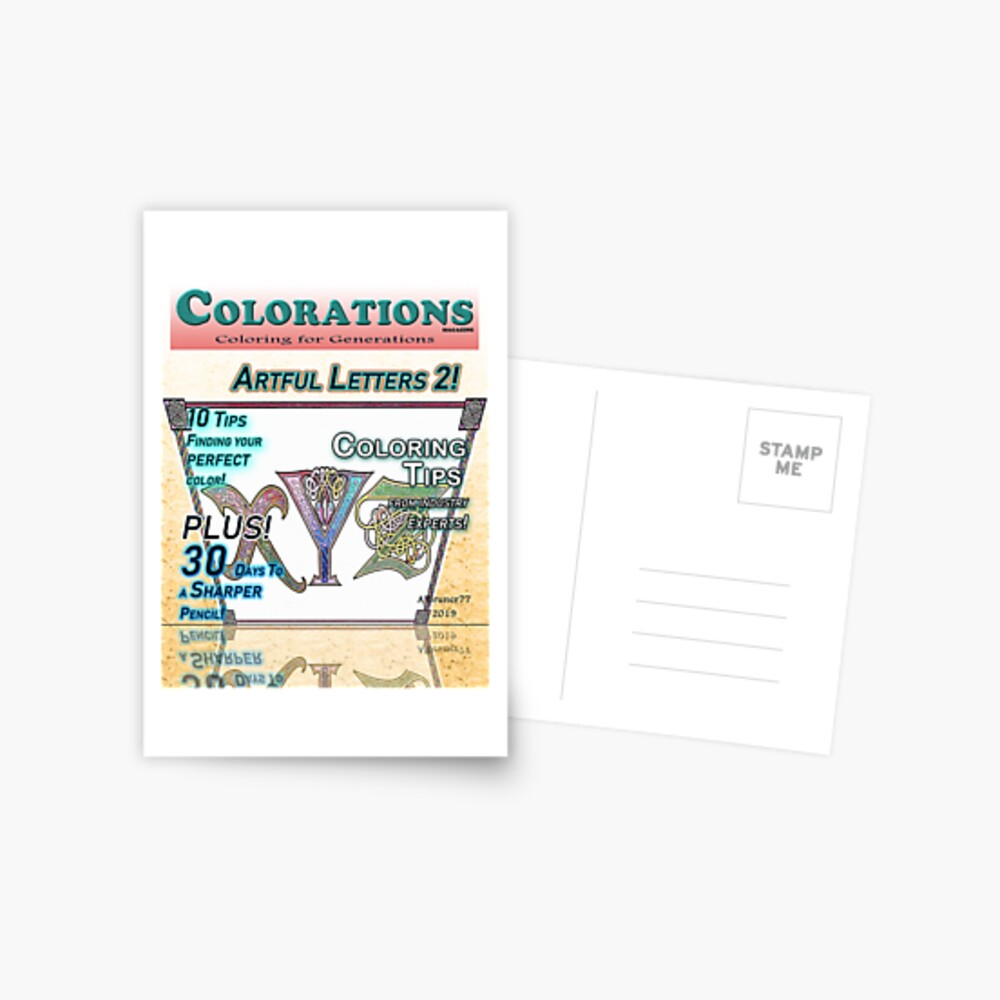 Colorations Magazine - Artful Letters 2 Postal