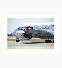 Qantas A380 Art Print