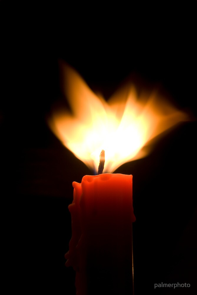 """""""Red Candle Black Background"""" by palmerphoto 
