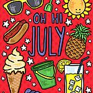 Oh Hi, July - Sweet Little Summer Doodles by TimorousEclectc