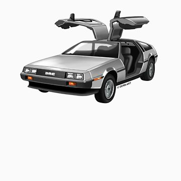 Legendary DeLorean sportscar, 80-ies symbol. by GerbArt