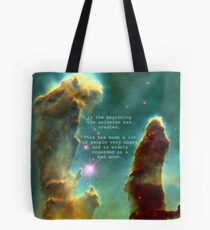 Hitchhiker's Guide Quote Tote Bag