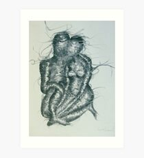 Entwined Lovers Art Print