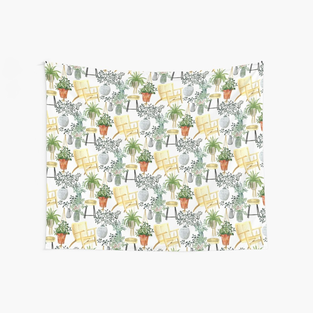 Garden Lady Wall Tapestry