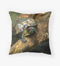 The Red-Eared Slider   Throw Pillow