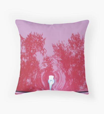 Street Rod Art: Red Trees Throw Pillow