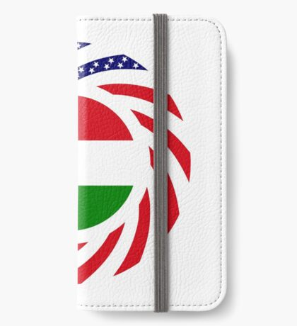 Hungarian American Multinational Patriot Flag Series iPhone Wallet