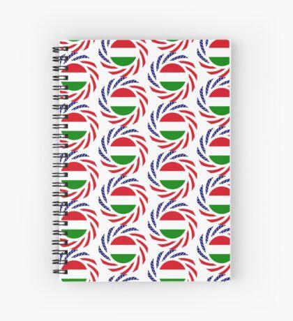Hungarian American Multinational Patriot Flag Series Spiral Notebook