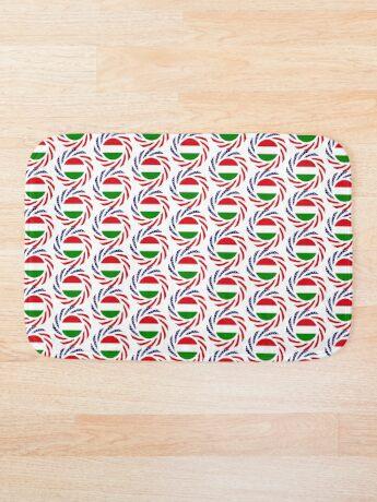 Hungarian American Multinational Patriot Flag Series Bath Mat