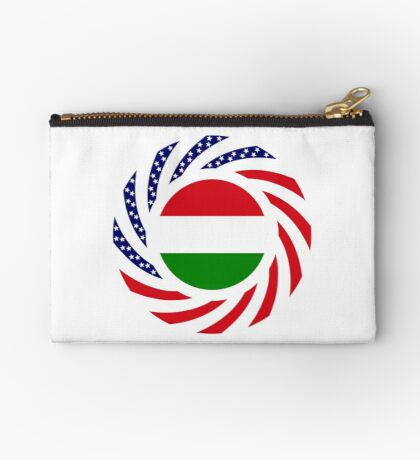 Hungarian American Multinational Patriot Flag Series Zipper Pouch