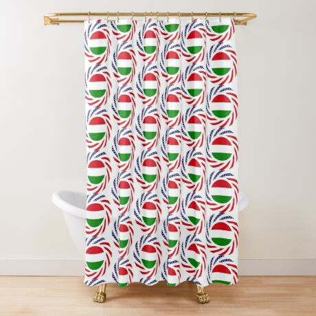 Hungarian American Multinational Patriot Flag Series Shower Curtain