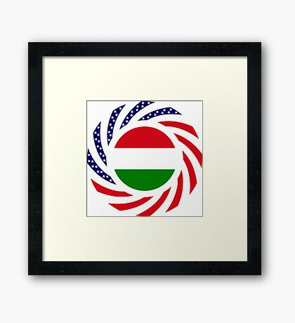 Hungarian American Multinational Patriot Flag Series Framed Print
