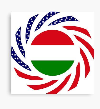 Hungarian American Multinational Patriot Flag Series Canvas Print